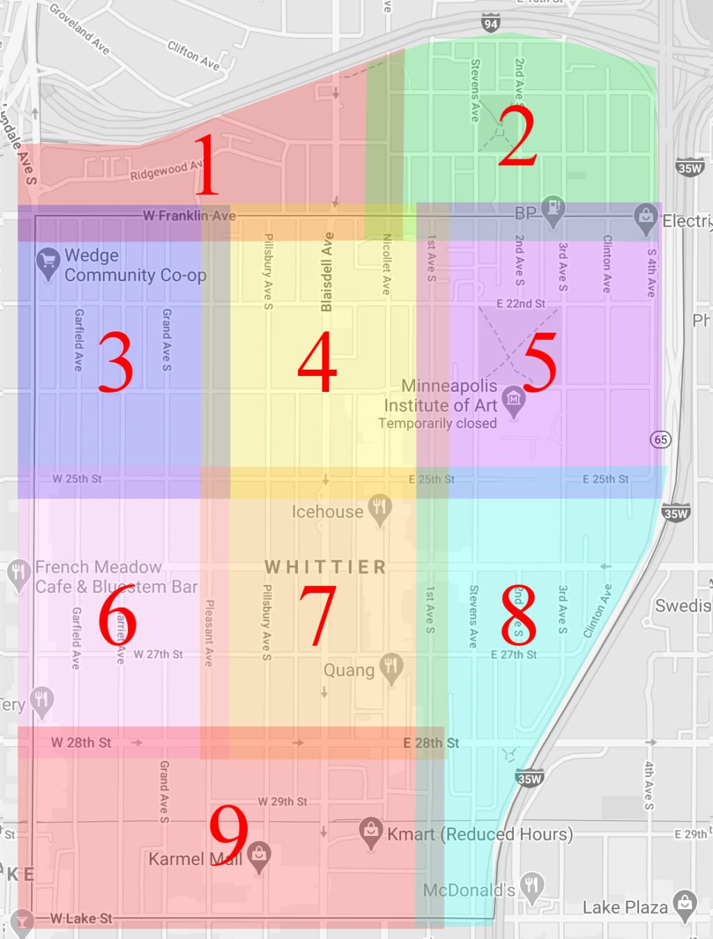 Whittier Zones